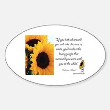 Sunflower Quote Oval Decal