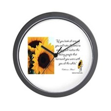 Sunflower Quote Wall Clock