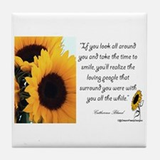 Sunflower Quote Tile Coaster