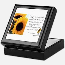 Sunflower Quote Keepsake Box
