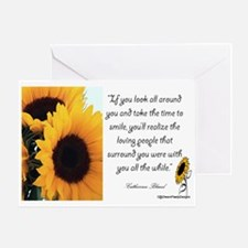 Sunflower Quote Greeting Card