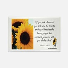 Sunflower Quote Rectangle Magnet