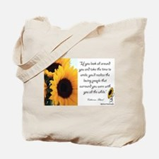 Sunflower Quote Tote Bag