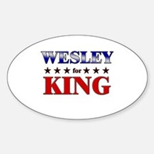 WESLEY for king Oval Decal