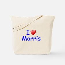 I Love Morris (Blue) Tote Bag
