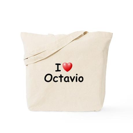I Love Octavio (Black) Tote Bag
