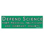 Defend Science Bumper Sticker