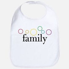Family Pride (Rainbow Bubbles) Bib