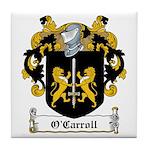 O'Carroll Family Crest Tile Coaster