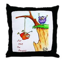 Cliff Golf Throw Pillow