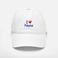 I Love Nana (Blue) Baseball Baseball Cap