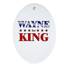 WAYNE for king Oval Ornament