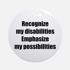 Disability Awareness Ornament (Round)