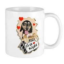 coonhound puppy kisses Mug