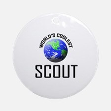 World's Coolest SCOUT Ornament (Round)