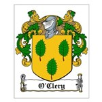 O'Clery Family Crest Small Poster