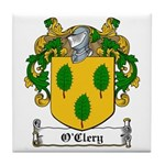 O'Clery Family Crest Tile Coaster