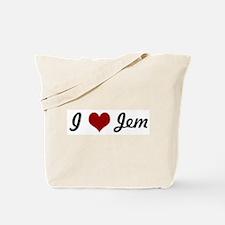 I love Jem Tote Bag