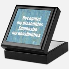 Disability Awareness Keepsake Box