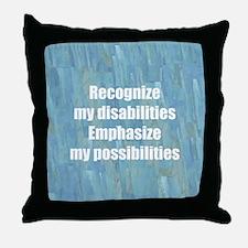 Disability Awareness Throw Pillow
