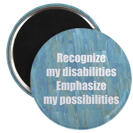 "Disability Awareness Motivati 2.25"" Magnet (100 pa"