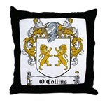 O'Collins Family Crest Throw Pillow