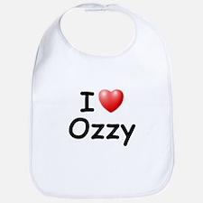 I Love Ozzy (Black) Bib