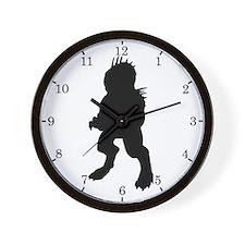 Chupacabra Silhouette Wall Clock