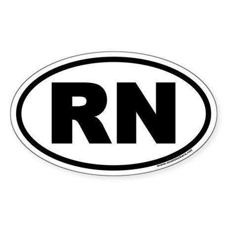 Registered Nurse RN Euro Style Oval Stickers