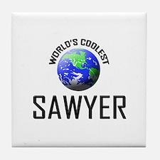 World's Coolest SAWYER Tile Coaster