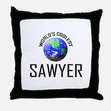 World's Coolest SAWYER Throw Pillow