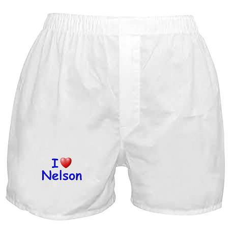 I Love Nelson (Blue) Boxer Shorts