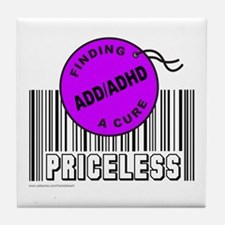 ADD/ADHD FINDING A CURE Tile Coaster