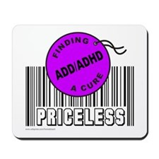 ADD/ADHD FINDING A CURE Mousepad