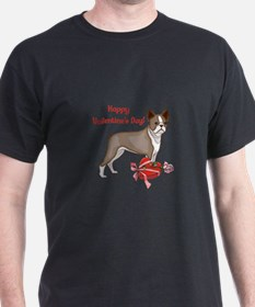 Boston Terrier Valentine's Day T-Shirt