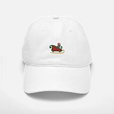 Santa's Sleigh Labrador Retriever Christmas Baseball Baseball Cap