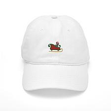 Santa's Sleigh Labrador Retriever Christmas Baseball Cap