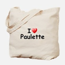 I Love Paulette (Black) Tote Bag