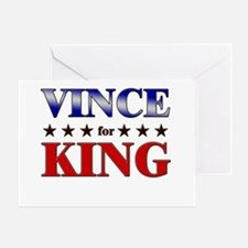 VINCE for king Greeting Card