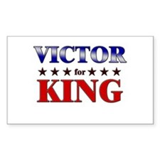 VICTOR for king Rectangle Decal