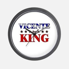 VICENTE for king Wall Clock