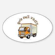Dark Truck Driver Oval Bumper Stickers