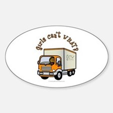 Dark Truck Driver Oval Decal