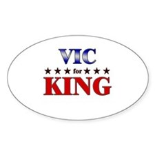 VIC for king Oval Decal