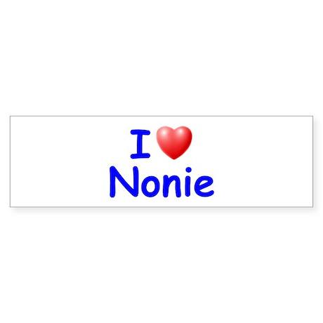 I Love Nonie (Blue) Bumper Sticker