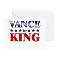 VANCE for king Greeting Card