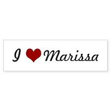 I love Marissa Bumper Bumper Sticker