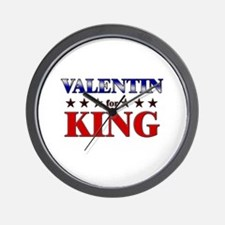 VALENTIN for king Wall Clock