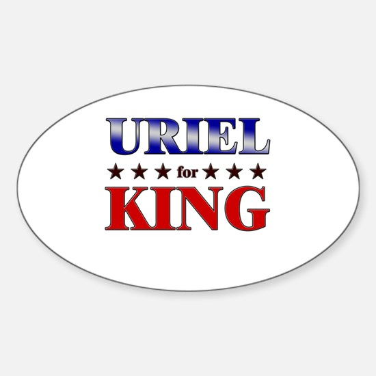 URIEL for king Oval Decal