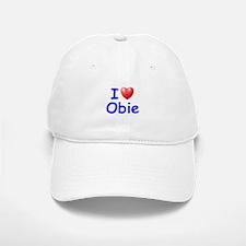 I Love Obie (Blue) Baseball Baseball Cap